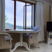 Pool suite lounge area