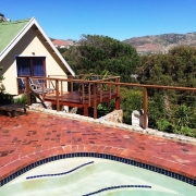 Self catering Cottage deck