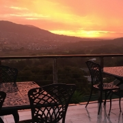 Image of sunset viewed from patio