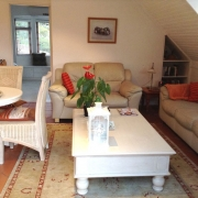 Image showing cottage lounge and bedroom entrance