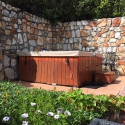 Image showing hot tub in garden