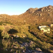 Image showing Dunvegan Lodge and mountain behind house